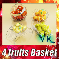 3D Model Fruits & Basket Collection 3D Model