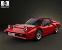 Ferrari 308 GTB / GTS 1975 3D Model