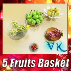 3D Model Fruit in Bowls Collection 3D Model