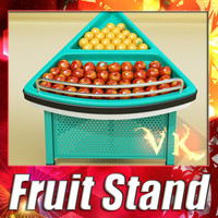 3D Model Grocery Store Produce Display Fixture 3D Model