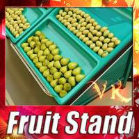 3D Model Fruit Stand Smoothable 3D Model
