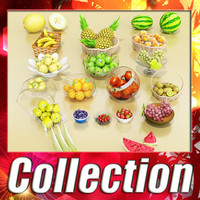 Photorealistic Fruits Collection 3D Model