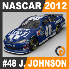 Nascar 2012 Car - Jimmie Johnson Chevrolet Impala #48 3D Model