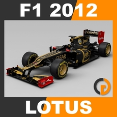 F1 2012 Lotus E20 - Lotus F1 Team 3D Model