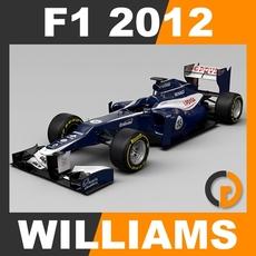 F1 2012 Williams FW34 - Williams F1 Team 3D Model
