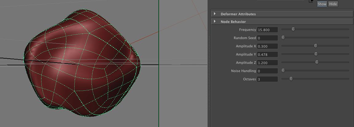 Perlin Noise Deformer for Maya