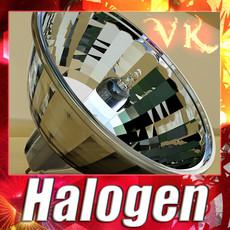 3D Model Halogen Lamp High detail 3D Model