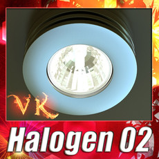 3D Model Halogen Lamp 02 High detail 3D Model