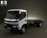 Hino Dutro StandardCab Chassis 2010 3D Model