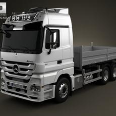 Mercedes-Benz Actros Flatbed 3-axis 2011 3D Model