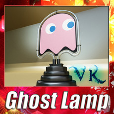 3D Model Table Lamp Pac Man Ghost 3D Model