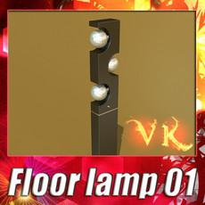 3D Model Modern Floor Lamp 01 3D Model