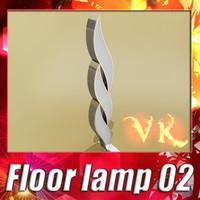 3D Model Modern Floor Lamp 02 3D Model