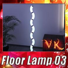 3D Model Modern Floor Lamp 03 3D Model