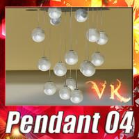3D Model Modern Pendant Lamp 04 3D Model