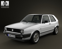 Volkswagen Golf Mk2 3-door 1983 3D Model