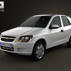 Chevrolet Celta 5-door hatchback 2011 3D Model