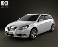Opel Insignia Sports Tourer 2009 3D Model