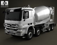 Mercedes-Benz Actros Mixer 4-axis 2011 3D Model