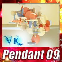 3D Model Modern Pendant Lamp 09 3D Model