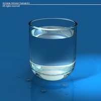 Glass with water 3D Model