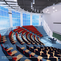 Lecture hall modern 3D Model