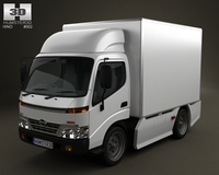 Hino 300 StandardCab Box 2010 3D Model