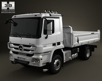 Mercedes-Benz Actros Tipper 2-axis 2011 3D Model
