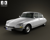 Citroen DS 4-door Sedan 1970 3D Model