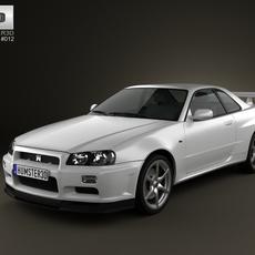 Nissan Skyline R34 GT-R coupe 1999 3D Model