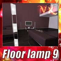 3D Model Modern Floor Lamp 09 Totem 3D Model