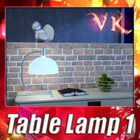 3D Model Modern Table Lamp 01 AS1C 3D Model