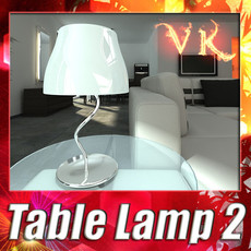 3D Model Modern Table Lamp 02 Circle T 28 3D Model