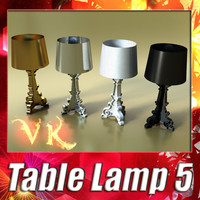3D Model Table Lamp 05 Bourgie 3D Model