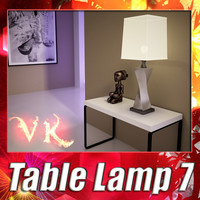 3D Model Modern Table Lamp 07 Silver 3D Model