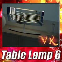 3D Model Modern Table Lamp 06 Maserati 3D Model