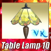 3D Model Victorian Table Lamp 10 3D Model
