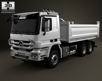 Mercedes-Benz Actros Tipper 3-axis 2011 3D Model