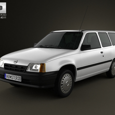 Opel Kadett E Caravan 3-door 1984-1991 3D Model