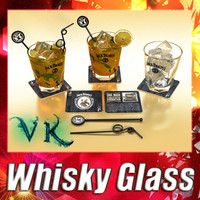 3D Model Whiskey Glass 3D Model