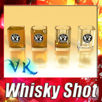 3D Model High Detailed Whisky Shot Glass 3D Model