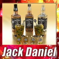 3D Model Jack Daniels Collection 3D Model