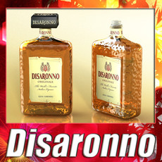 3D Model Disaronno Bottle 3D Model