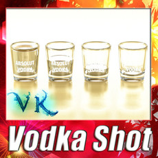 3D Model Vodka Shot Glass. 3D Model