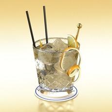 3D Model Vodka Cocktail Glass 3D Model