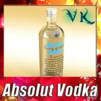 3D Model Absolut Vodka 3D Model