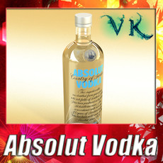 3D Model Absolut Vodka 3D Model