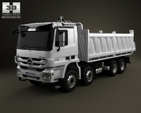 Mercedes-Benz Actros Tipper 4-axis 2011 3D Model