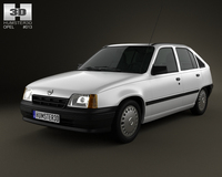 Opel Kadett E Hatchback 5-door 1984-1991 3D Model