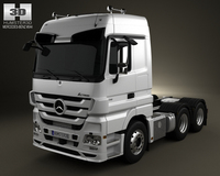 Mercedes-Benz Actros Tractor 3-axis 2011 3D Model
